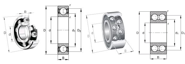 SKF 628-RS1 Bearing